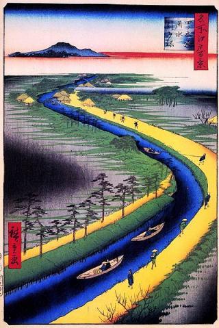 歌川広重作の浮世絵「名所江戸百景」